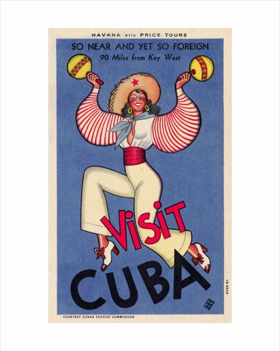 Visit Cuba Postcard by Conrado Massaguer