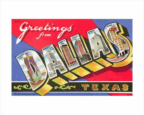 Greetings from Dallas, Texas Postcard by Corbis