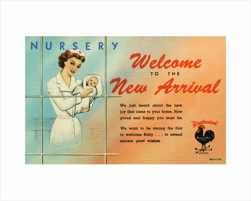 Card Welcoming a Newborn by Corbis