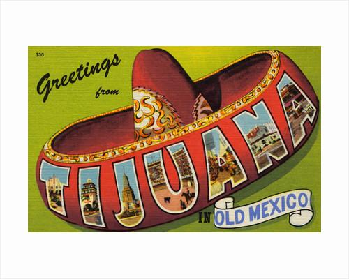 Postcard of Tijuana, Mexico by Corbis