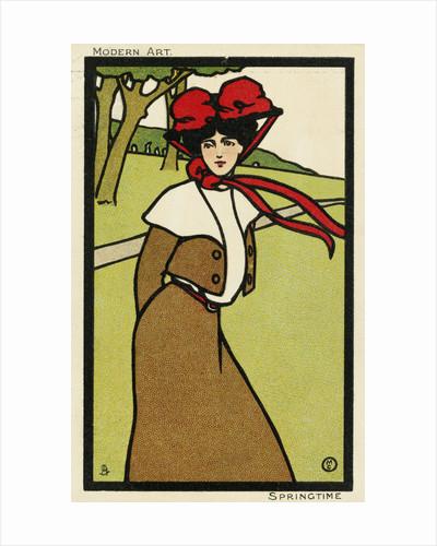 Modern Art: Springtime Postcard by Corbis