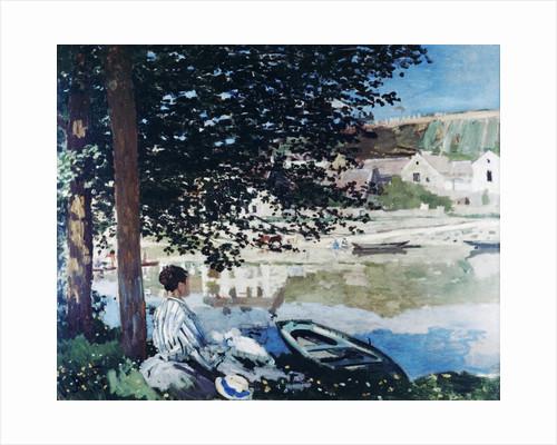 On the Seine at Bennecourt by Claude Monet