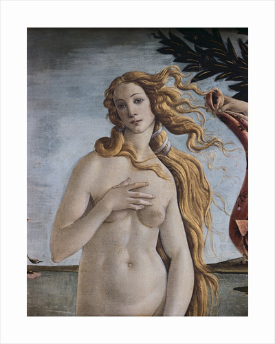 Detail of Birth of Venus by Sandro Botticelli