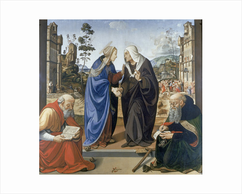 Visitation, With Saint Nicholas and Saint Anthony Abbot by Piero di Cosimo