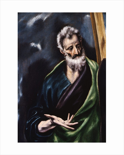Detail of Saint Andrew by El Greco
