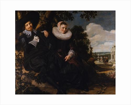 Marriage Portrait of Isaac Massa and Beatrix van der Laen by Frans Hals the Elder