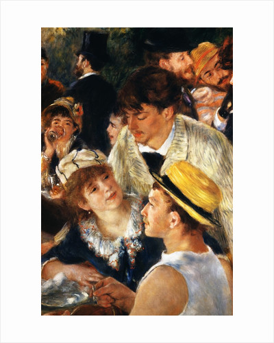 Detail Showing Figures from The Luncheon of the Boating Party by Pierre Auguste Renoir