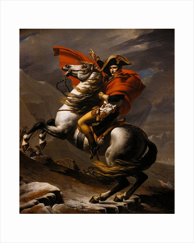 Napoleon on Horseback at the St. Bernard Pass by Jacques-Louis David