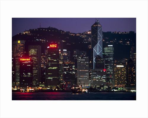 Hong Kong Island at Dusk by Corbis