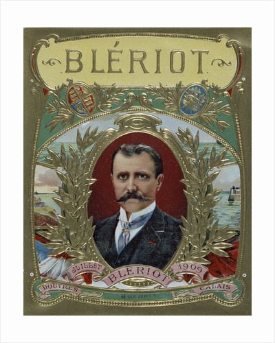 Cigar Label Design Celebrating Louis Bleriot's First Flight Across the English Channel by Corbis