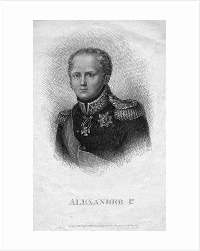 Alexander I 19th-Century Engraving by Corbis