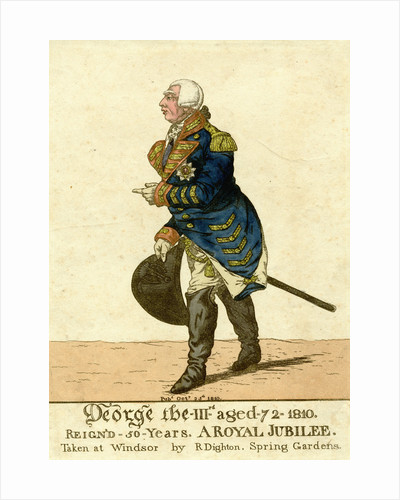 George III Print of His Fiftieth Year Jubilee by Robert Dighton
