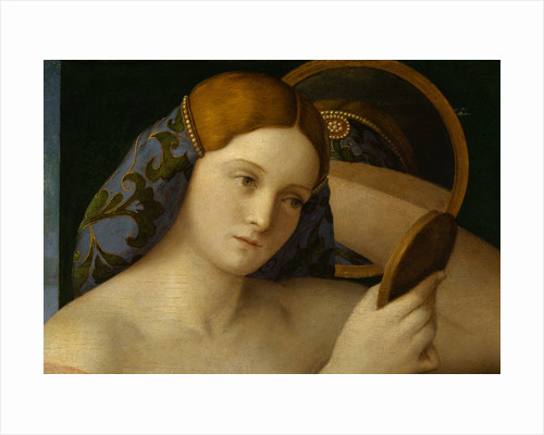 Detail of Young Woman with a Mirror by Giovanni Bellini