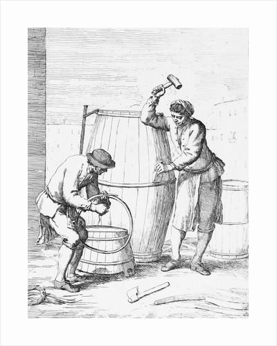 Barrel Makers Constructing a Barrel by Corbis