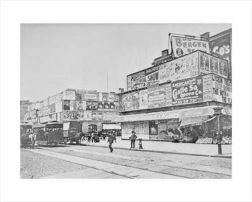 Advertisements in Times Square in 1900 by Corbis