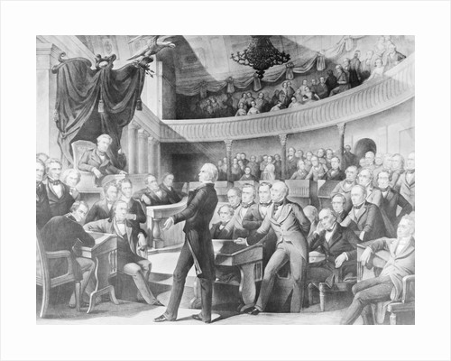 Henry Clay Gesturing to Senate by Corbis