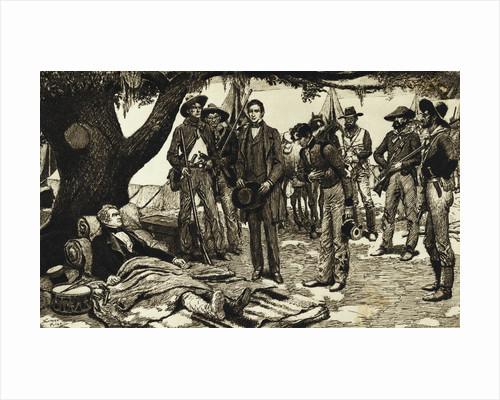 Santa Anna Being Presented to Sam Houston by Corbis