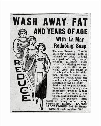 Advertisement for La-Mar Fat Reducing Soap by Corbis