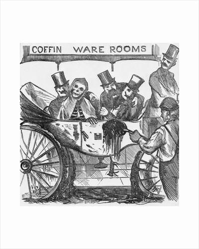 Illustration on Subject of Cholera Fear Among New York Citizens by Corbis