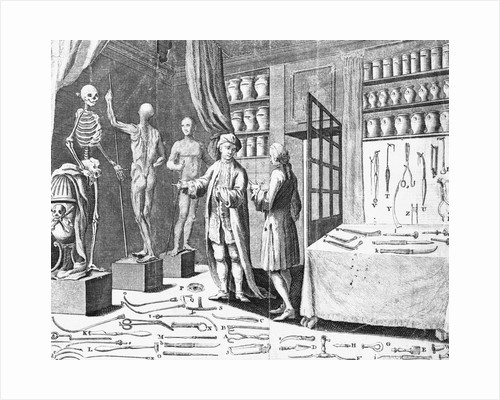 19th-Century Magazine Illustration Depicting an Anatomy Lesson by Corbis