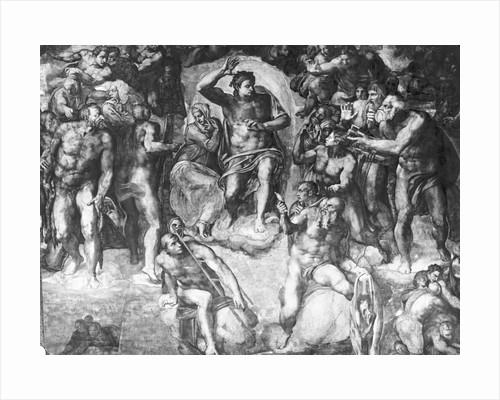 Detail of Last Judgement by Michelangelo Buonarroti