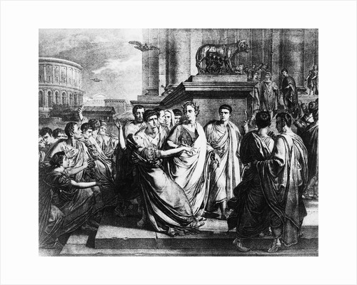 Julius Caesar and Wife in Crowd by Corbis