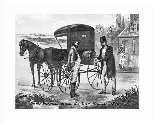 Salesman Dispensing Medicine by Corbis