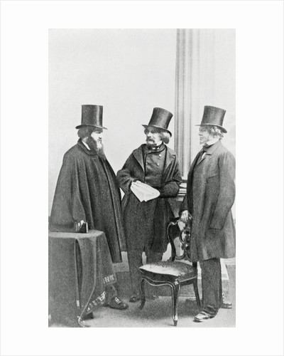 Nathaniel Hawthorne with His Publishers by Corbis