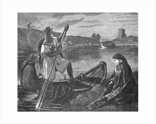 Engraving Depicting King Arthur by Corbis