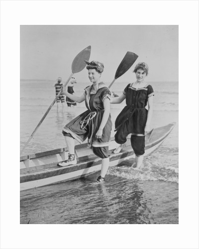 Women with Rowboat by Corbis