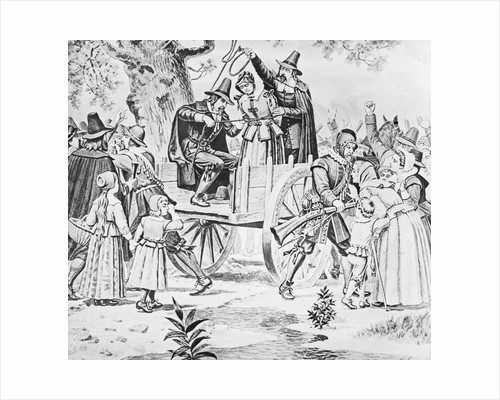 Drawing of Bridget Bishop Being Hanged for Witchcraft by Corbis