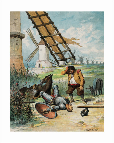 Illustration of Don Quixote and Sancho Panza by Jules David