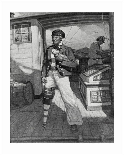 Captain Ahab on Ship Deck by Corbis