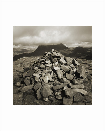 Pile of Rocks at Summit of Stac Pollaidh by Corbis