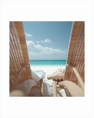 Beach Chairs on a Beach by Corbis
