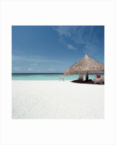 Cabana at the Beach by Corbis