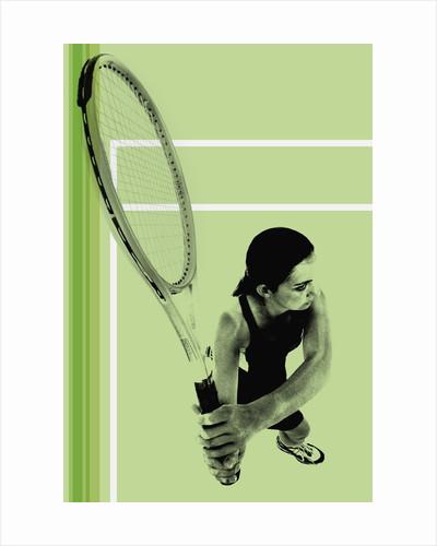 Tennis player by Corbis