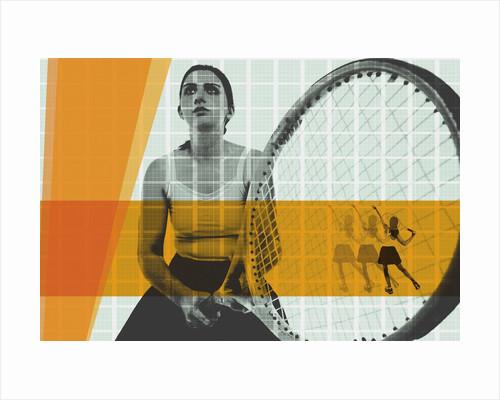 Tennis collage by Corbis