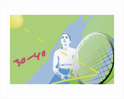 Tennis match by Corbis