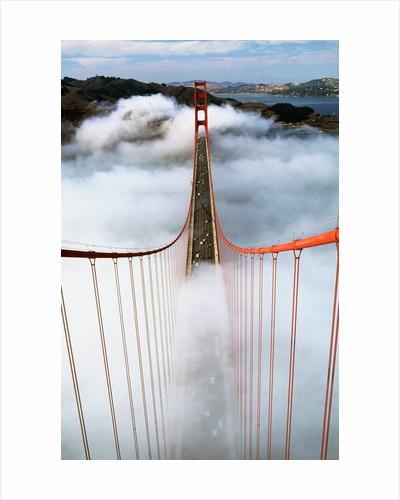 Golden Gate Bridge Wrapped in Fog by Corbis