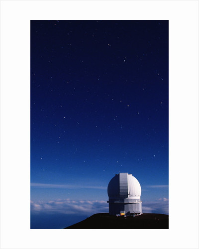 Stars Above the Canada-France-Hawaii Telescope by Corbis