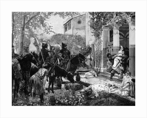 Huns Pillaging Villa by Corbis