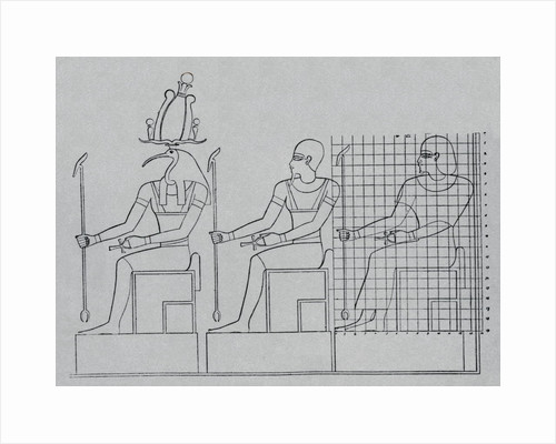 Imhotep, Thoth, and Hapu by Corbis