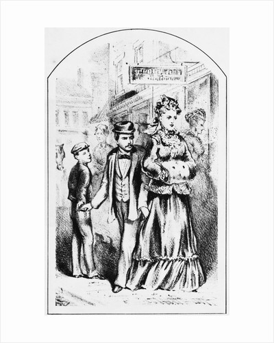 Lithograph Depicting Pickpockets by Corbis