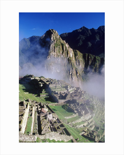 Misty View of Machu Picchu by Corbis