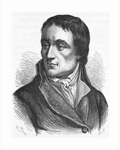 19th Century Portrait of French Politician Jean-Baptiste Carrier from L'Histoire de France by Henri Jean Guillaume Martin