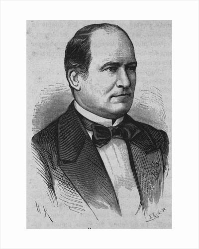 19th Century Portrait of French Politician Haussmann from L'Histoire de France by Henri Jean Guillaume Martin