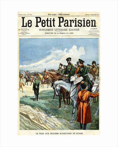 Le Tsar Aux Grandes Manoeuvres de Russie Magazine Cover for Le Petit Parisien by Corbis