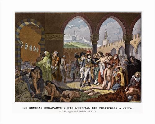 Le General Bonaparte Visite L'Hopital de Pestiferes a Jaffa Illustration in Victoires et Conquetes des Armees Francaises by Corbis