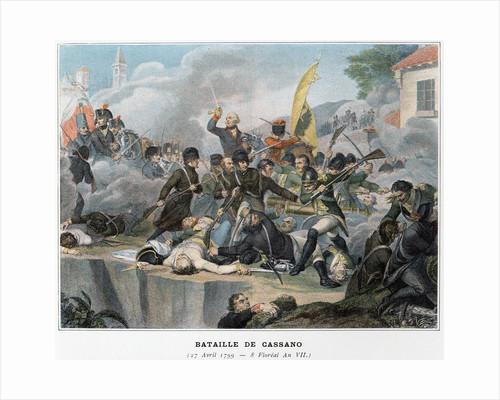Bataille de Cassano Illustration in Victoires et Conquetes des Armees Francaises by Corbis